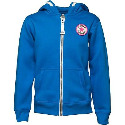 Converse Girls Zip Hoodie Vision Blue 3-4 Years