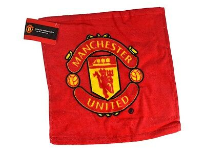 MANCHESTER UNITED Official Face Cloth Flannel with Club Crest