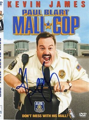 Kevin James Mall Cop Signed DVD Cover BSC COA Autograph