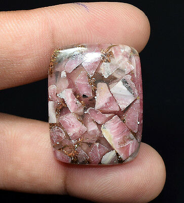 Exclusive !  43.95 Cts. Natural Copper  Rhodochrosite Cushion Cab  Loose Gems