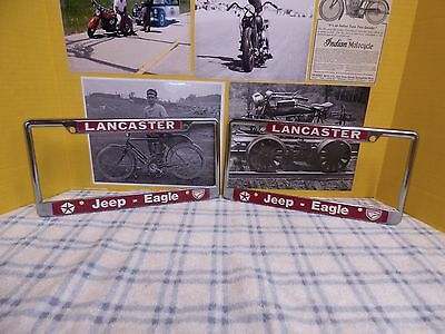 California Jeep Dealer Vintage License Plate Frames Eagle Willys Cherokee Ford