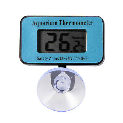 Digital LCD Fish Tank Aquarium Marine Terrarium Thermometer Temperature BI257