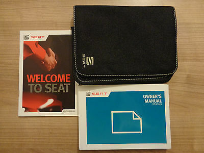Seat Alhambra Owners Handbook/Manual and Wallet 10-15