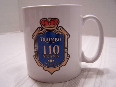 2011 TRIUMPH 100th Anniversary Motorcycle Collectors Coffee Mug Cup  S2410
