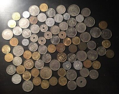 Large Lot Of Spanish Coins Pre Euro Some Franco