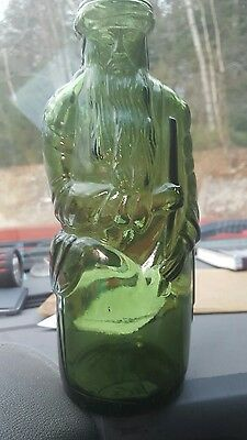 old moses bottle poland spring half staff rare olive green