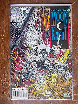 Marc Spector Moon Knight 55 VF/NM to NM- 1st Stephen Platt