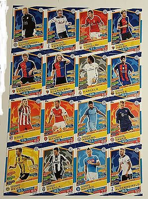 Champions Legaue 16/17 Match Attax. Full set of all 16 NORDIC cards (N1 - 16)