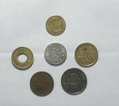 6 Different  tokens