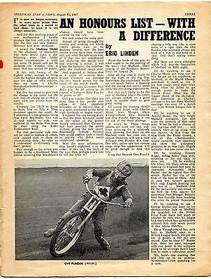 Speedway Star magazine - 18/8/67 COVERS MISSING