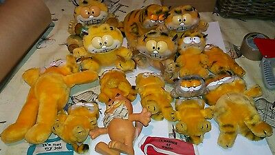 job lot vintage 1980s collectable garfield soft toys teddies