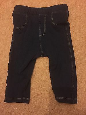 Marks And Spencer's Baby Girls Leggings Jeggings Age 6-9 Months Navy Blue