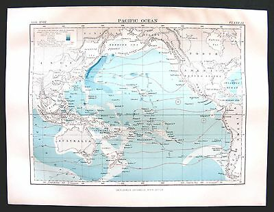 1885 Colour Map of the Course of HMS Challenger during 1873-76, and other data