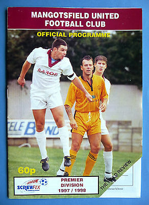 Mangotsfield United v Yeovil Town 1997/1998 - FA Youth cup preliminary round