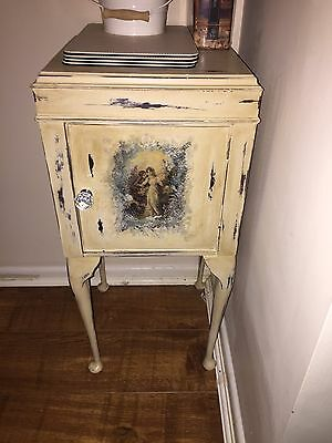 Beautiful Small Cabinet/ Side Table / Drinks Rest .. Unique Piece Of Furniture.