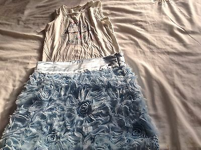 girls microbe skirt and top age 6