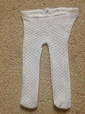 Girls White Party Tights 0-3 Months
