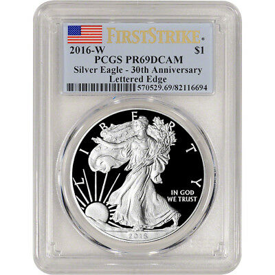 2016-W American Silver Eagle Proof - PCGS PR69 DCAM - First Strike