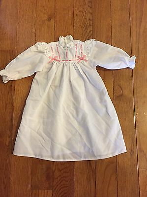 American Girl Samantha Night Gown white w/pink ribbons