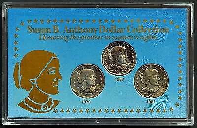 Susan B. Anthony Dollar Collection 79, 80, 81