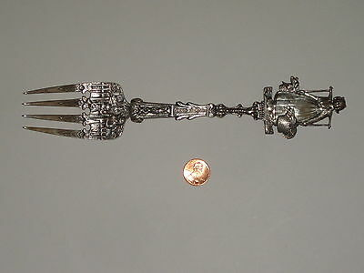 Antique Silver Fork weighs 2.7 Ounces From Holland - Extremely Rare and Old