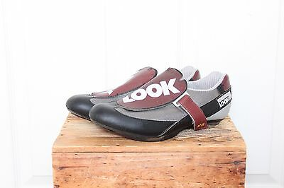 Vintage LOOK Carbon Road Racing Cycling Shoes AP196 size 43 VTG