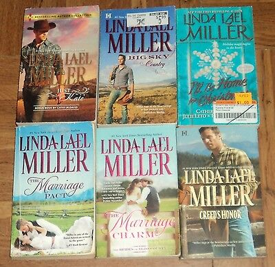 """LINDA LAEL MILLER """"ROMANCE"""" BOOK COLLECTION - Lot of 6 - Great Romance Reads!!"""
