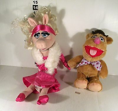 "18"" MISS PIGGY + 12"" FOZZY BEAR - 2 x THE MUPPET SHOW SOFT TOY"