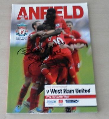 Liverpool Football Club versus West Ham Utd 2013 programme signed by Jimmy Case