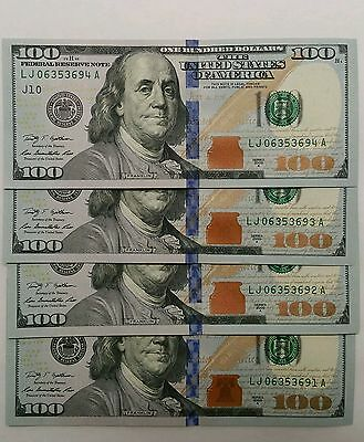 (1) $100 One Hundred US Paper Money Dollars Federal Reserve Note