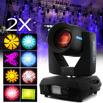 2x 330W Beam Moving Head Light Gobos Zoom 16 Prism Wedding Bar DJ Party Stage