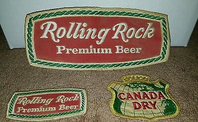 Vintage Rolling Rock/Canada Dry patches unused