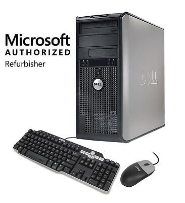 Dell Desktop PC OptiPlex 360 Windows 7 Computer Tower 160GB HD Keyboard & Mouse