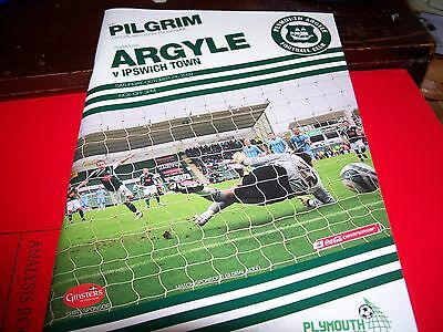 Plymouth  V Ipswich Town Programme 24/10/2009