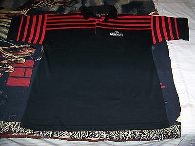 NEW Men's Guinness Draught Beer Golf Polo Collar Casual Shirt XXL 2XL Black Red