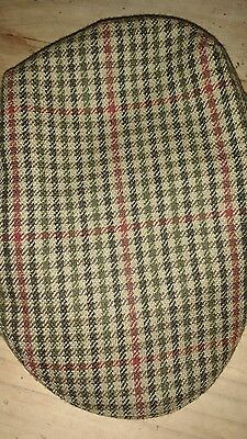 Boys wool BARBOUR checked hat/ cap sz 67 cm approx age 9-11
