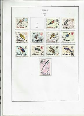 Gambia . 1966. Birds .  Used