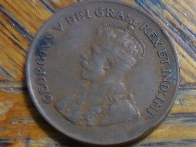1934 George V Canadian One Cent Coin