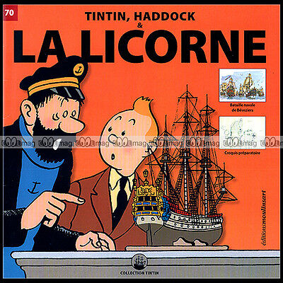 TINTIN, HADDOCK & LA LICORNE N°70 (Hergé) : BATAILLE NAVALE BEVEZIERS, CROQUIS