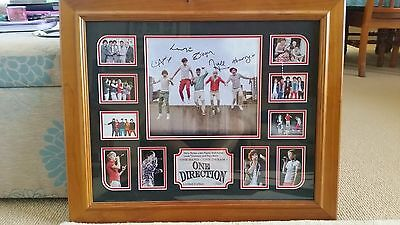 One Direction framed limited edition signed print