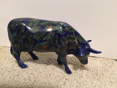 COW PARADE  FOR EVERY NEW YEAR COW FIGURINE #9184 RETIRED Cobalt Blue
