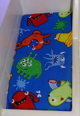 Dollhouse Bed Mattress  Little Tikes  Blue Fabric With Monsters
