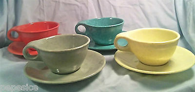 Vtg 50's retro Russel Wright Residential Northern Melmac 8pc tea cup saucer set