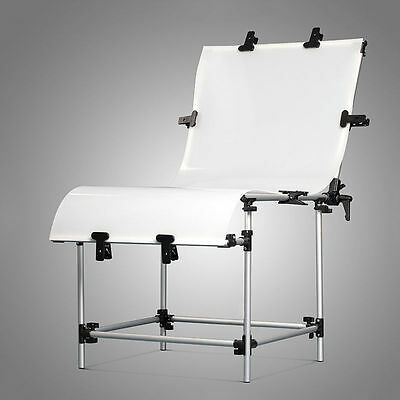 Portable 60x130cm Photo Studio Still Life Product Display Shooting Table Clamps