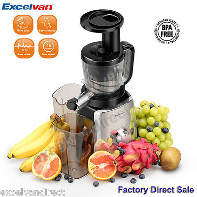 150W Two Edged Squeezing Slow Masticating Juicer Fruit Vegetable Juice Extractor