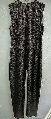 Vintage Fredericks of Hollywood Leopard Jumpsuit Catsuit Romper Size 2X