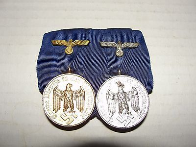 WWI German Medal Badge Pin Wehrmacht WW2 Military Faithful Service 4 and 12