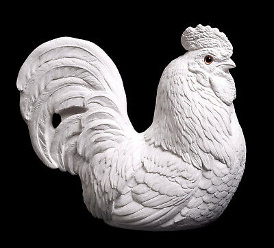"Windstone Editions ""paint Your Own"" Rooster, Bird, Fowl Animal Statue"