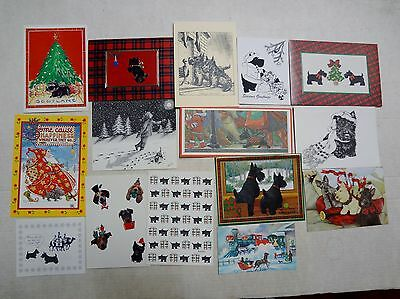 30 Used Scottie Scotty Christmas Cards