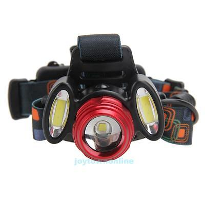 Rechargeable 15000LM 3x XML T6 LED Headlamp Camping Hiking HeadLight Torch Lamp